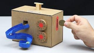How to Make Money Saving Box and Marble Vending Machine