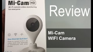 Mi-Cam Wi-Fi Camera Baby Pets Monitor Security Remote Camera 2-Way Video with 720p HD Quality