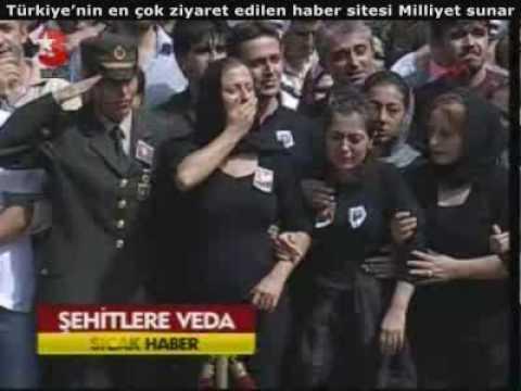 Eruh Çukurca ve Başkale de Şehit Olan 11 Kahramanımıza Veda 10 09 2009