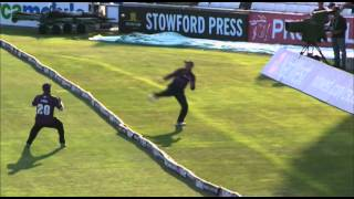 Another amazing catch from Yorkshire's Aaron Finch and Adam Lyth
