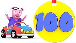 Learn to Count | One to Hundred | 1 - 100 | Kindergarten Learning Songs for Children by Farmees