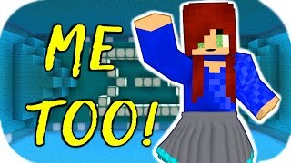 ♫ Me Too ♫ - Meghan Trainor Music Video minecraft animation I'm A Lady 4K resolution next  MTrain