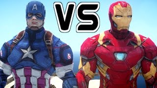 CAPTAIN AMERICA VS IRON MAN - EPIC SUPERHEROES BATTLE