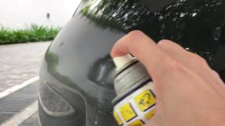 How to remove minor scratches on your car using WD40
