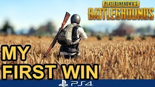 PUBG PS4 / My First Solo Win