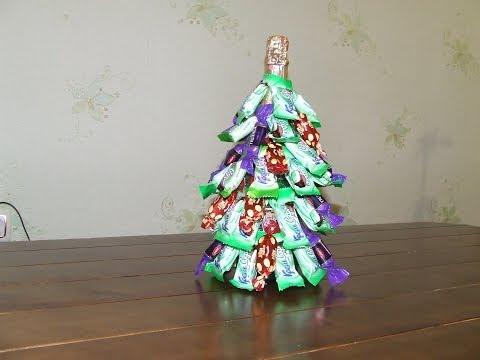 Watch Новогодняя елка из бутылки Шампанского и конфет. Создайте сказочный образ! - Motion Tube - Video Sharing