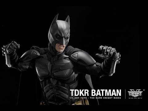 The Dark Knight Rises Hot Toys Batman 1 4 Scale Collectible Movie Figure Review