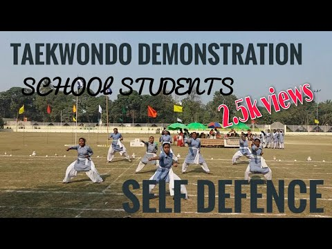 Barlow Girls High School , Malda - Taekwondo Demonstration