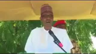President Buhari's Speech In Maiduguri To Troops #NigeriaAt57 Happy Independence