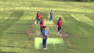 Thrilling Finish to an Cricket match  By Wares Issakhel Ever of Norway U19 Vs Sweden U19( 2015 )