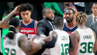 NBA fight John Wall punches Boston Celtics Crowder in face after NBA game.