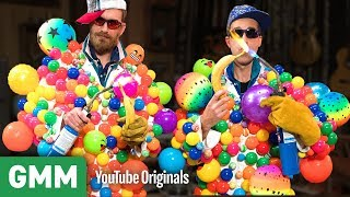 Blowtorching Bananas In Bouncy Ball Suits | Nowhere Else