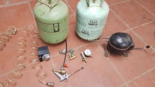 Prepare the parts, To make Compressed Air Tank from Old Refrigerator