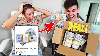 I Ordered FAKE MONEY, But They Sent REAL MONEY Instead... ($40,000)