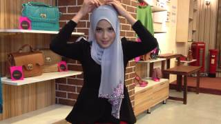 Tutorial Shawl Shasmeen Uyyun (selendang panjang)