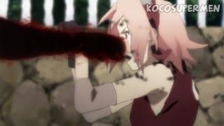 Kyuubi punches Sakura [ Naruto Shippuden 292 ]