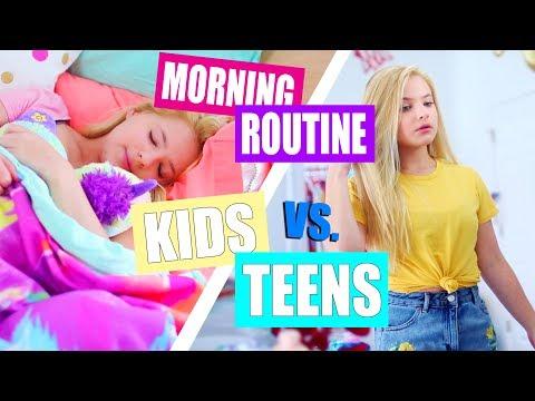 Kid vs. Teen Morning Routine for School!