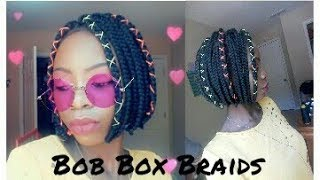 HOW TO: Bob Box Braids| Rubber Band Method