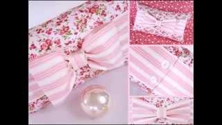 Декор подушки бантом. Beautiful pillow with a bow.
