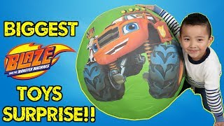 BIGGEST Blaze And The Monster Machines Toys Collection Giant Surprise Egg Opening Ckn Toys