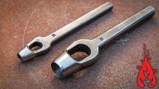 Blacksmithing - Making a hollow hole punch