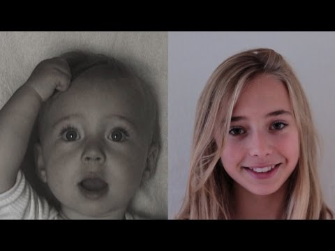 Portrait of Lotte, 0 to 13 years in 3 ½ minutes.