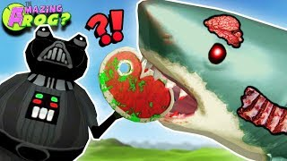 MAKING A ZOMBIE MEGALODON WITH ZOMBIE STEAK & ZOMBIE PIG?! || Amazing Frog Funny Gameplay Part 59
