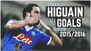 Gonzalo Higuain ► All Goals Napoli Season 2015/2016 ● HD