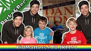 DanTDM meets KidMatters+TV and shoutout to Casey Neistat. New media stars [KM+Parks&Rec S01E02]