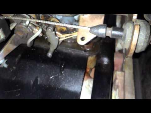 Acionamento segundo estágio mecânico carburador Weber 460