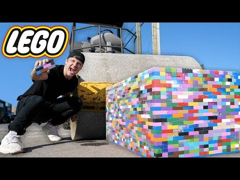 Can 10 000 Legos Stop A Steam Roller