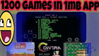 1200 videogame in 1mb download | super mario | contra | bomberman | all videogame android download