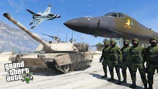 WORLD WAR 3 MOD - GTA 5 REAL TANKS JETS USA VS RUSSIA