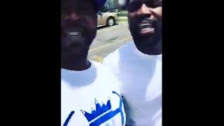 Tsu Surf & Tay Roc go back and forth after a basketball game