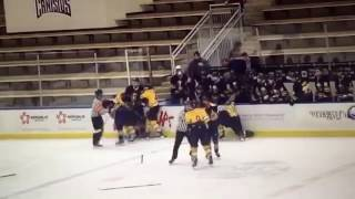 Former NHL player Andrew Peters punches 15 year old