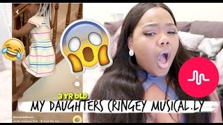 REACTING TO MY 3 YEAR OLD KID DAUGHTERS CRINGEY MUSICAL.LY!!