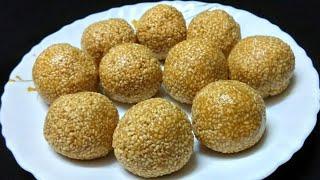 5 मिनट मे बनाये तिल गुड़ के यह हेल्दी और स्वादिष्ट लड्डू | Til Gud Ladoo Recipe | Til Gur Ke Laddu .