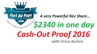 fortadpays withdrawal proof | fort ad pays cashout proof with drew burton 2016