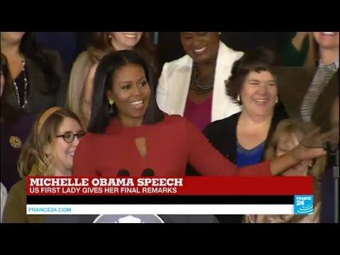 US First lady Michelle Obama gives her final speech