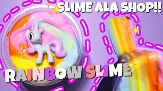 WOW! SLIME ALA SHOP! || PONY RAINBOW SLIME {tutor slime bahasa indonesia}