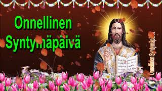 0 139 Finnish Happy Birthday Greeting Wishes includes Jesus  Christ  with Bible by  Bandla