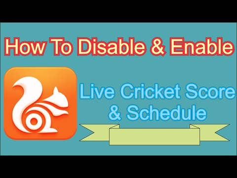 How to Disable & Enable UC Browser Cricket Scores Notification
