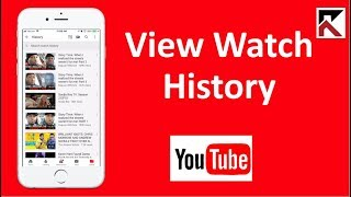 How To View Watch History YouTube iPhone