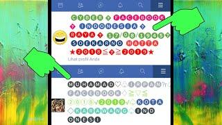 Cara Buat Facebook Bubble Name Unik (Bunglon) |Howtomake