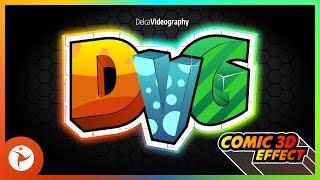 GREAT 3D LETTER LOGO + COMIC EFFECT: COREL DRAW TUTORIAL ✏️