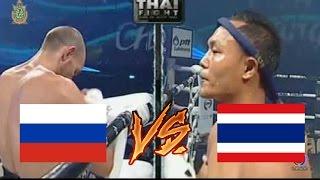 Russia VS Thailand Muay Thai KO (Saenchai vs Lurii Bukhvalov)