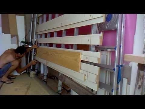 painel saw serra esquadrejadeira vertical testando com tabua de pinus