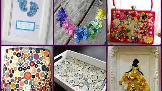Recycled Button Crafts Ideas - Easy DIY Button Projects