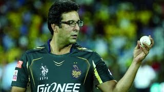 Wasim Akram Bowling after many years in Domestic Cricket Match
