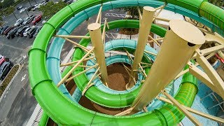 Cypress Springs at Gaylord Palms - Green Tamiami Twister   High-Speed Waterslide Onride POV